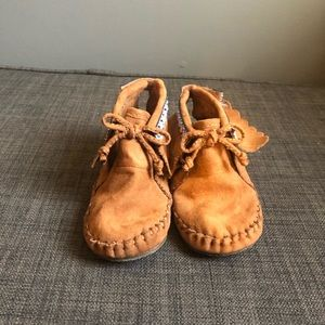 Genuine kids moccasins